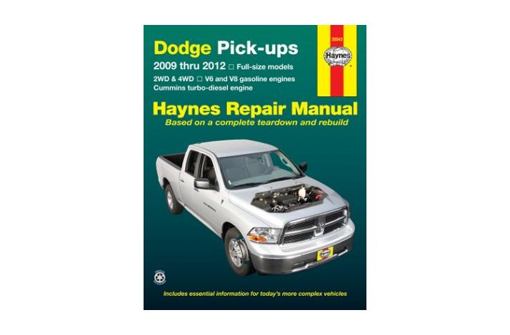 Workshop manual Dodge Full-size PU 2009-12