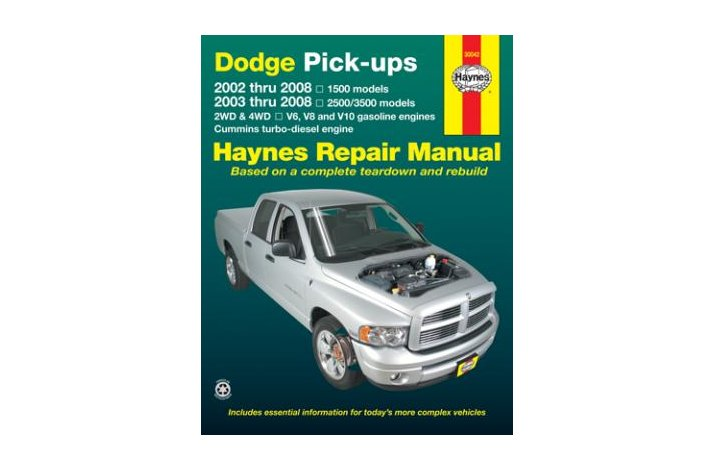 Workshop manual Dodge Full-size PU 2002-08