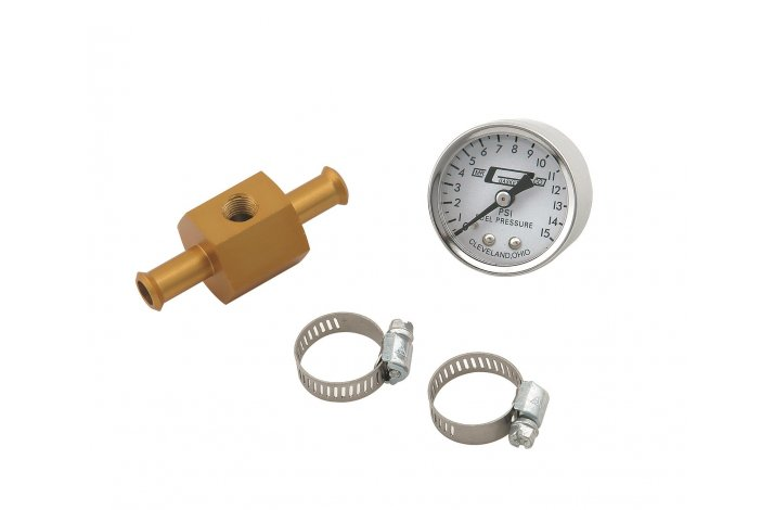 Benzintryk måler m. adapter