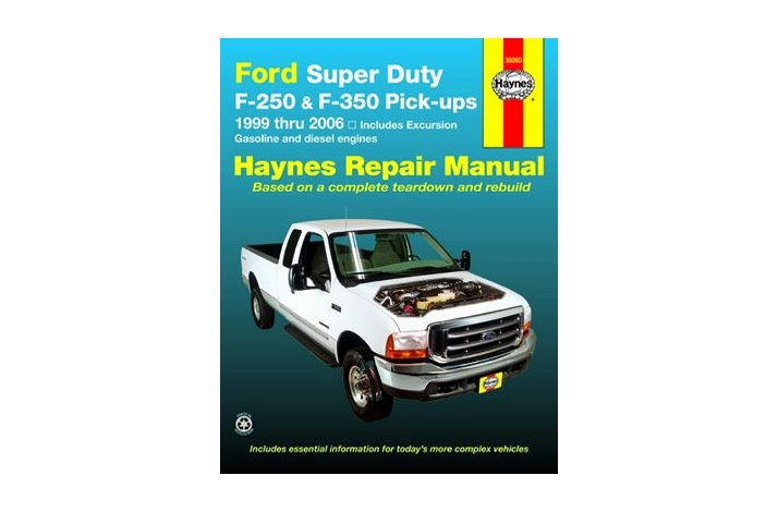 Workshop manual Ford F250/350SD 1999-2006