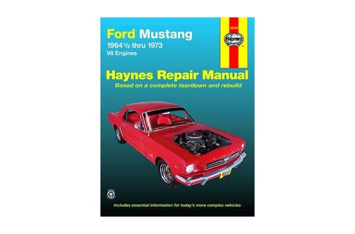 Workshop manual Mustang 64,1/2 - 73