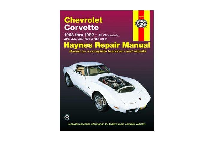 Workshop manual Corvette 1968-82