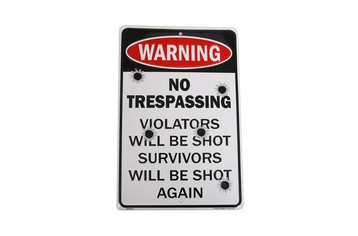 NO TRESPASSING SKILT