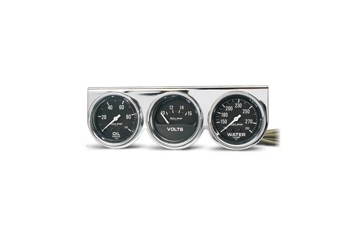 Autometer Gauge kit chrome